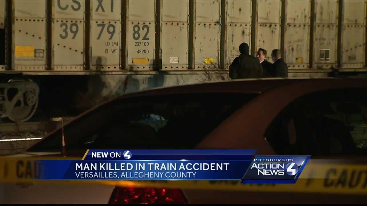 A man was hit and killed by a train Monday night in North Versailles at the First Street crossing.