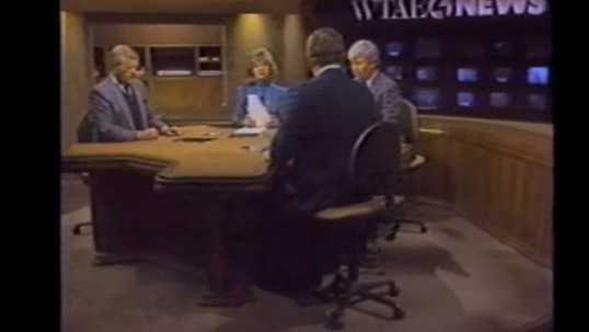 Joe DeNardo, Sally Wiggin, Don Cannon, and Bill Hillgrove in the 1989