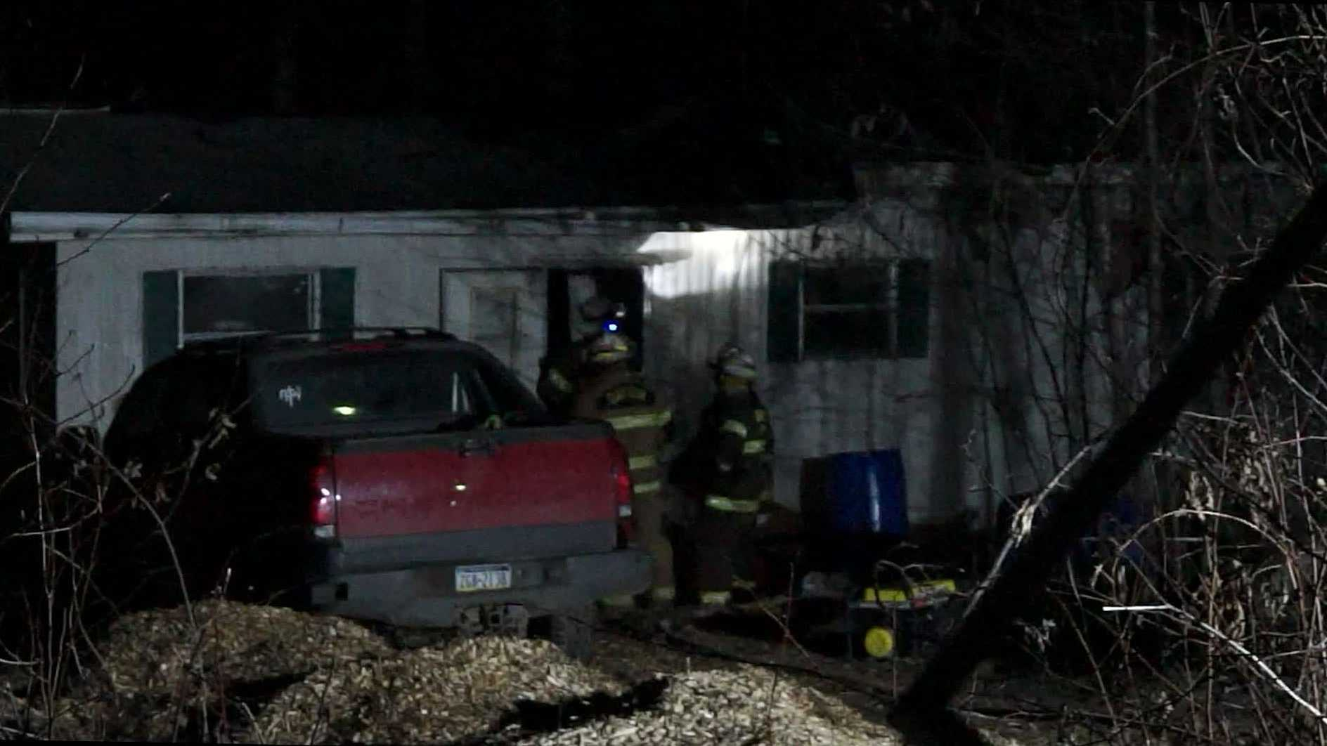 Three people safely escaped a trailer fire in Armstrong County early Wednesday morning.