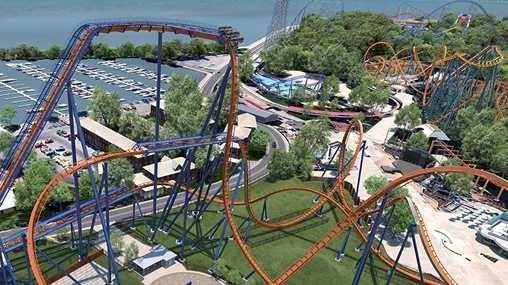 The Valravn roller coaster at Cedar Point.