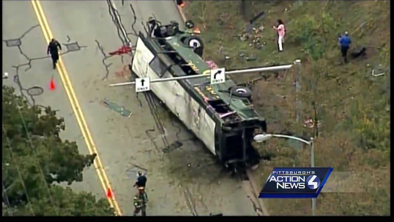 Two Port Authority bus drivers accused of racing each other on the Parkway North leading to one crashing over a hillside appeared in court Monday.