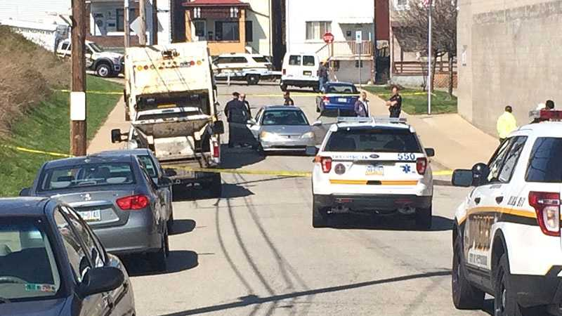 A city refuse worker was struck by a vehicle on Salisbury Street in the South Side Slopes.