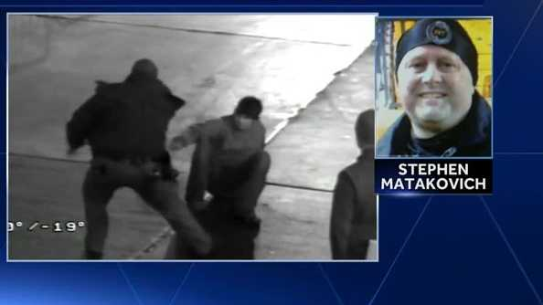 Heinz Field surveillance video showed then-Pittsburgh police Sgt. Stephen Matakovich hitting a suspect during an arrest.