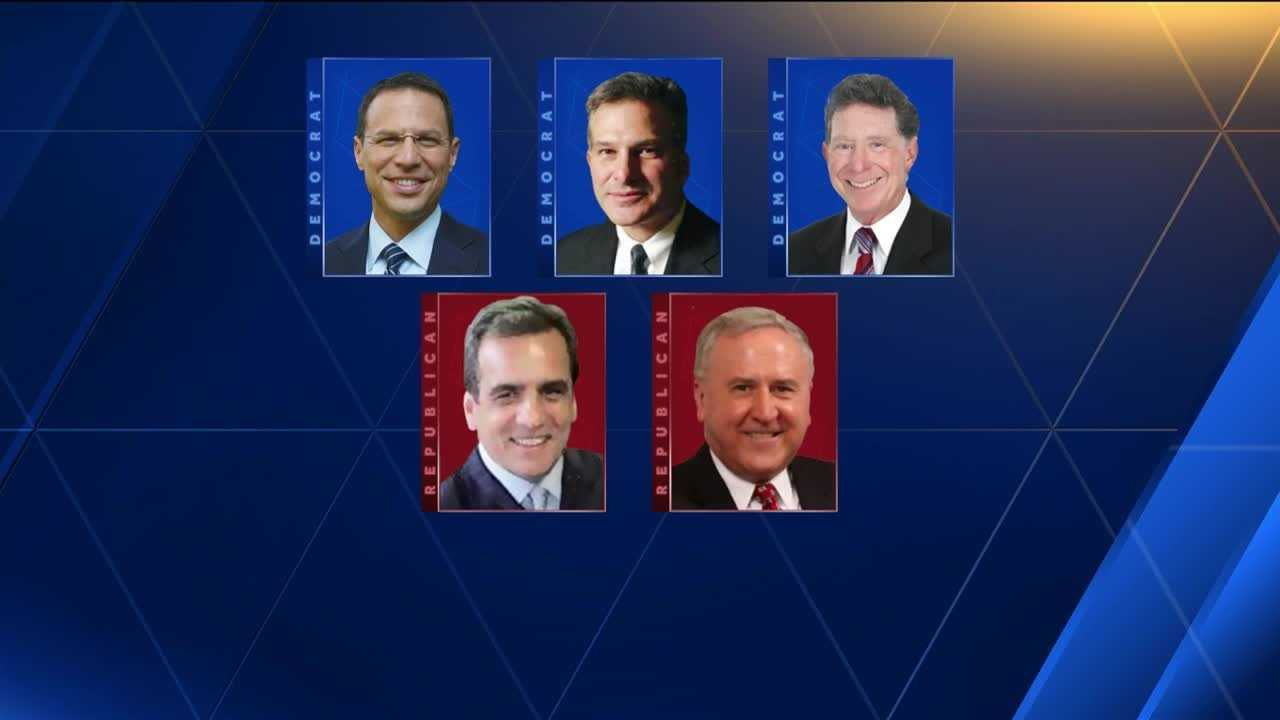 Three Democrats (Josh Shapiro, Stephen Zappala and John Morganelli) and two Republicans (John Rafferty and Joe Peters) are running for Pennsylvania attorney general.