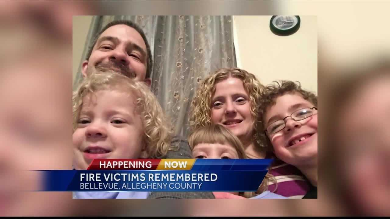 Vigil held for Bellevue family killed in Friday night house fire