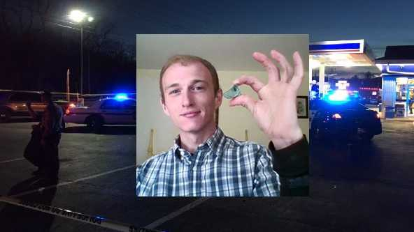 Murrysville police said they exchanged gunfire with Jesse Callender at the Marathon gas station on Route 22.