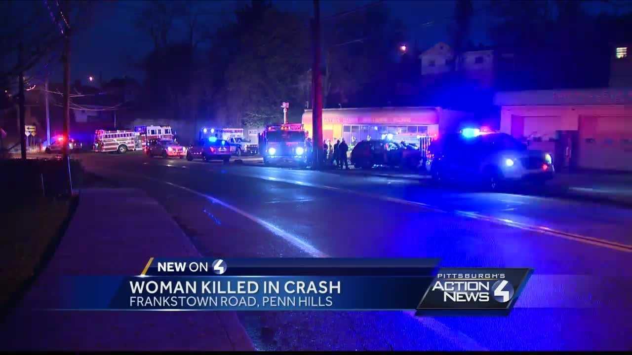 A woman was killed in a car crash in Penn Hills Friday night.