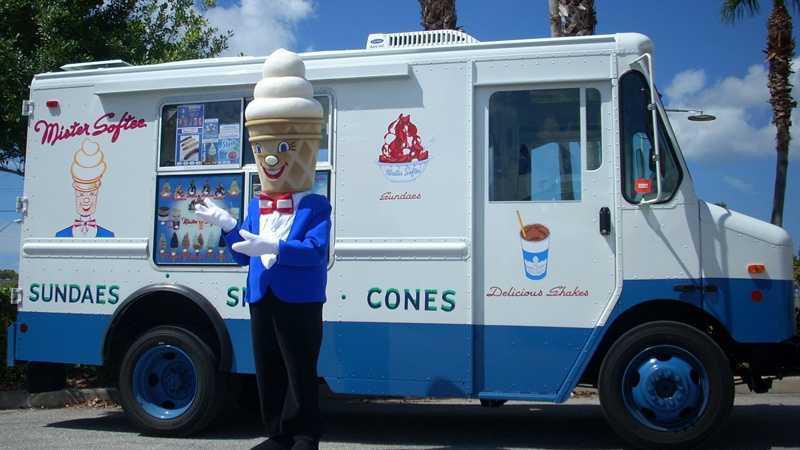 A Mister Softee ice cream truck.