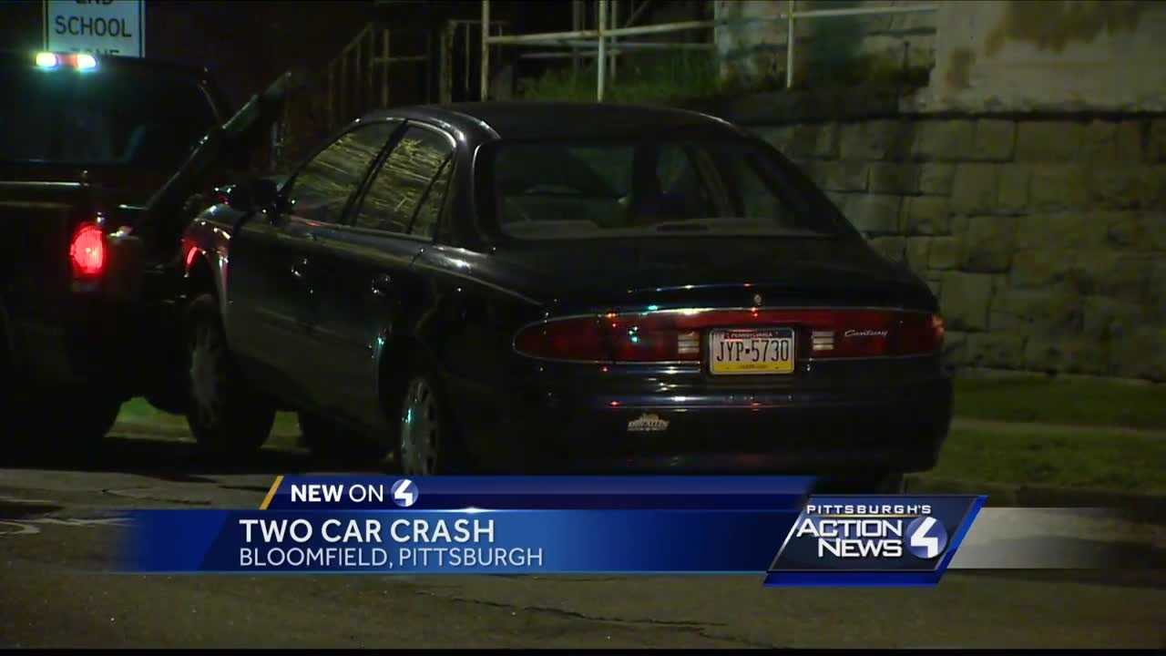 Crews were called to the scene of a two-car crash in Bloomfield early Saturday morning.