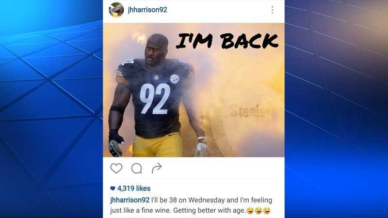 James Harrison instagram i'm back