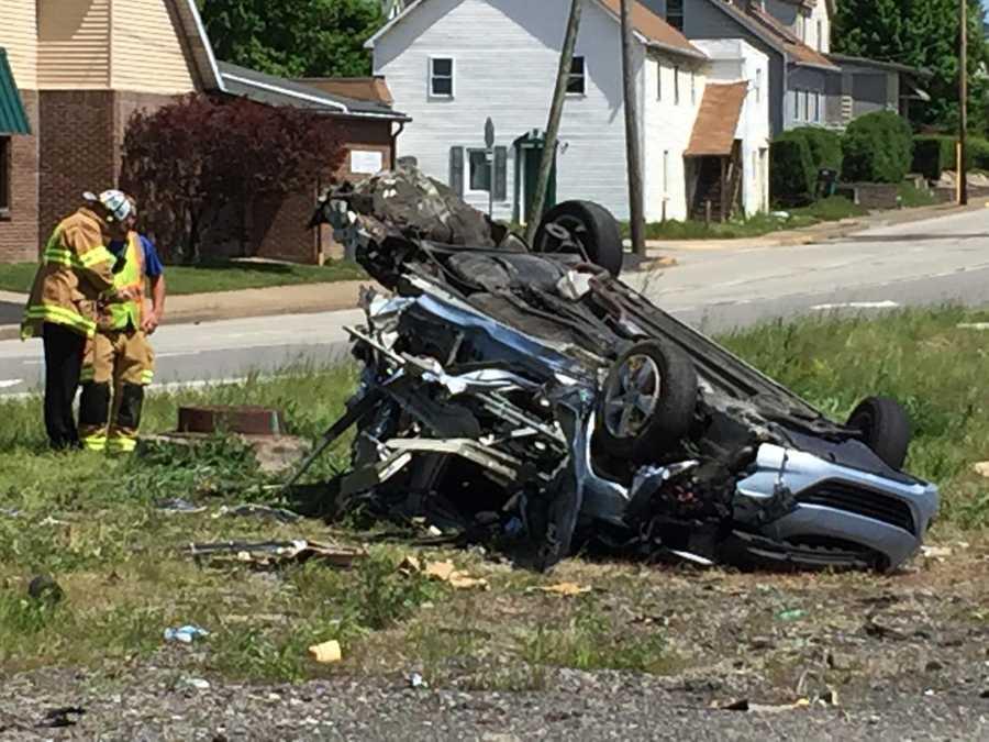 A crash in Westmoreland County left multiple people injured Sunday morning. (Dave Carulli)