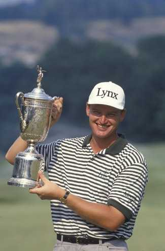 Ernie Els during the 1994 U.S. Open Championship at Oakmont Country Club in Oakmont, Pennsylvania