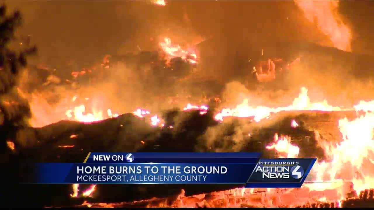 Intense flames destroy house in McKeesport