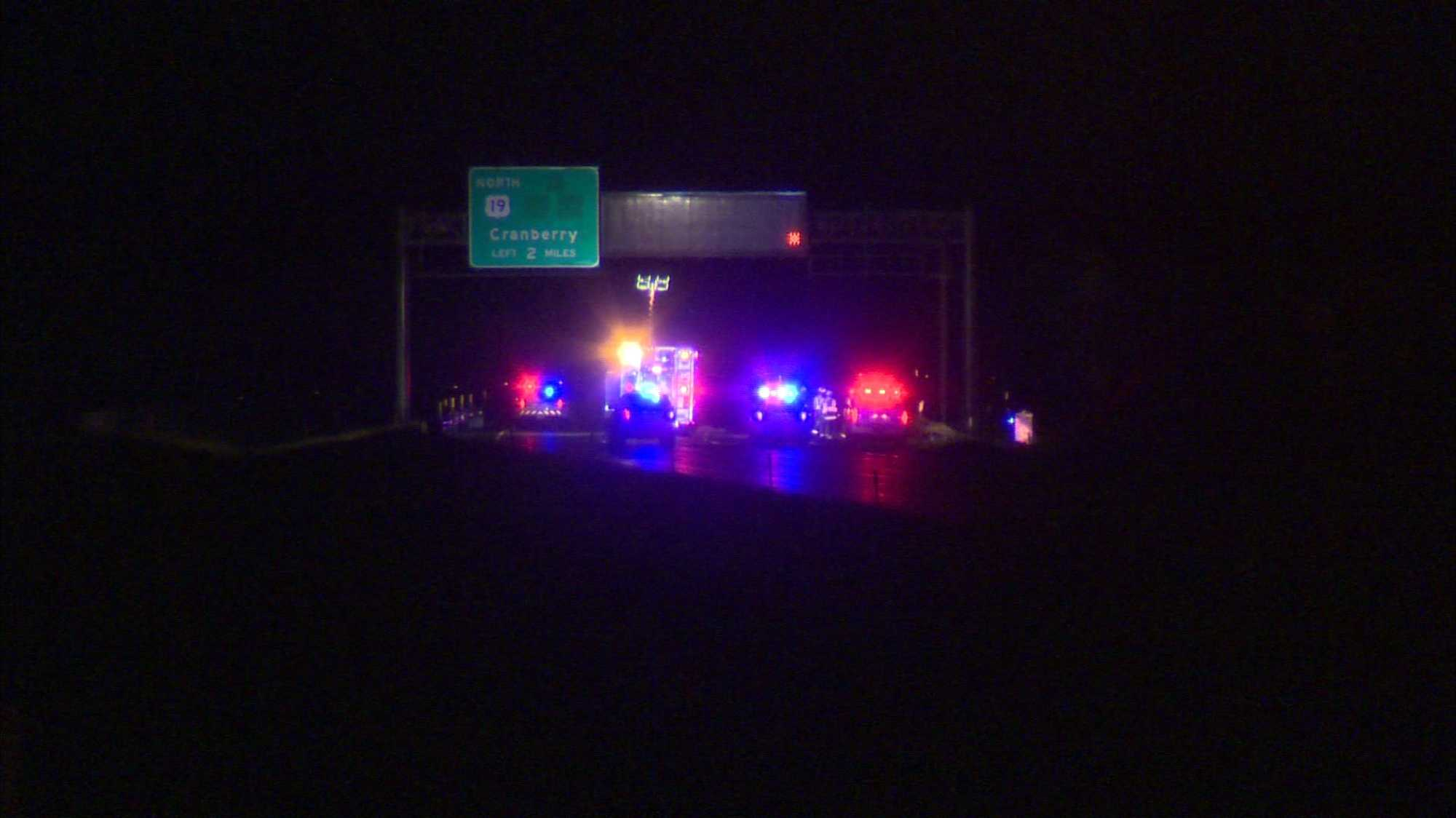 img-Woman killed in crash after swerving to miss deer on Interstate 79