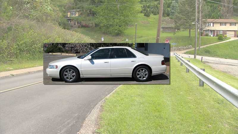 Police said they are looking for a white 2004 Cadillac with license plate JSJ 9586 that was seen fleeing the area after a man was shot early Sunday morning on Graham Blvd Extension in Penn Hills.