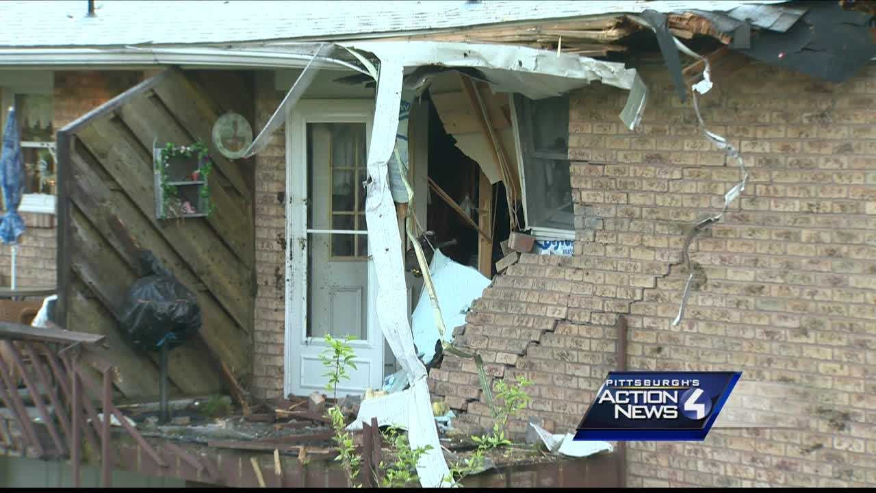 A man suffers critical injuries early Monday morningwhen his car crashes into a duplex and destroys a woman's bedroom in Butler County.