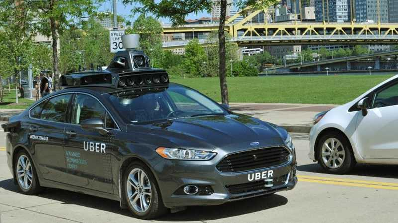 Uber is testing a self-driving car on public streets in Pittsburgh.