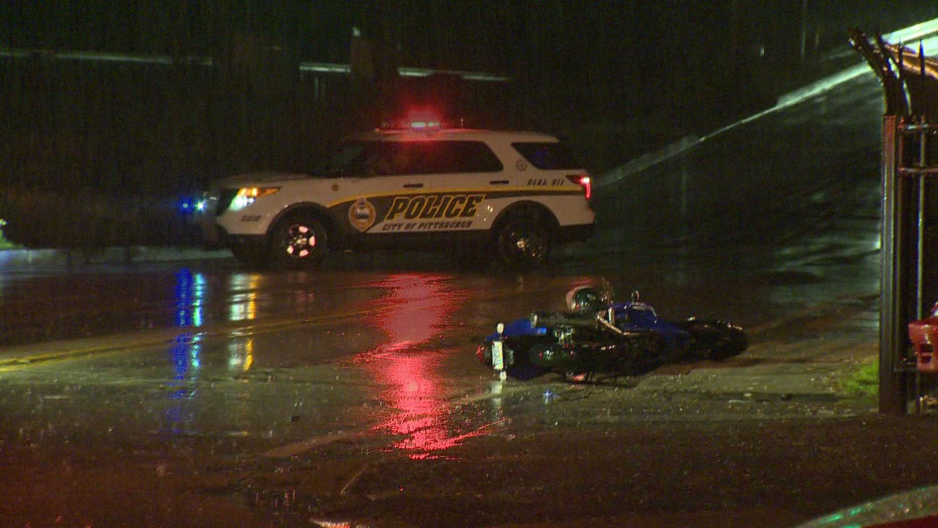 1 injured after car, motorcycle crash in South Side flats