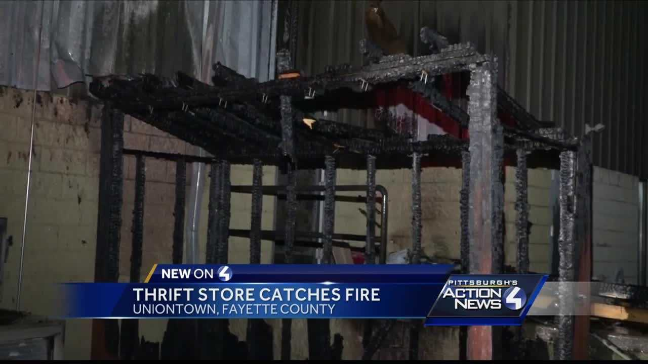 Fire damages thrift store in Uniontown