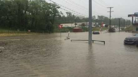 Flooding has been reported in multiple areas in Allegheny County. (Photo courtesy WTAE viewer)