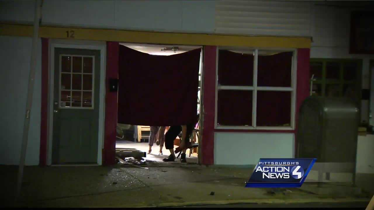 No one hurt when a car hits a building in Mount Washington on Wednesday morning