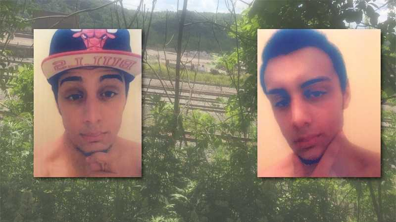 Police said Jacob Fisher (seen here in Facebook photos) jumped into the Allegheny River to avoid them.