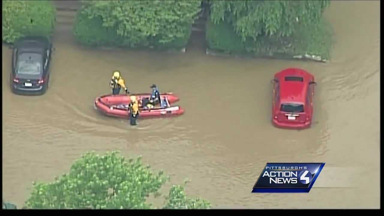 img-Team Coverage Flash flooding leaves parts of Ligonier underwater prompting boat rescues