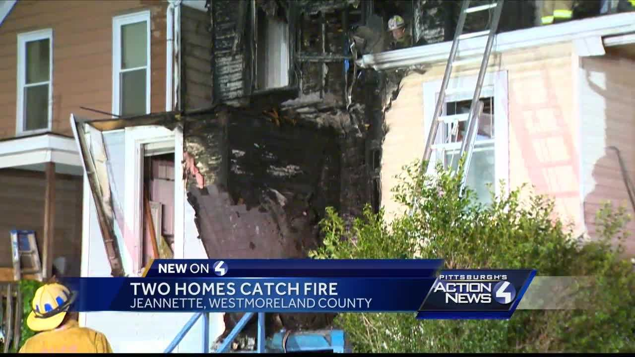 Fire damages two homes in Jeannette