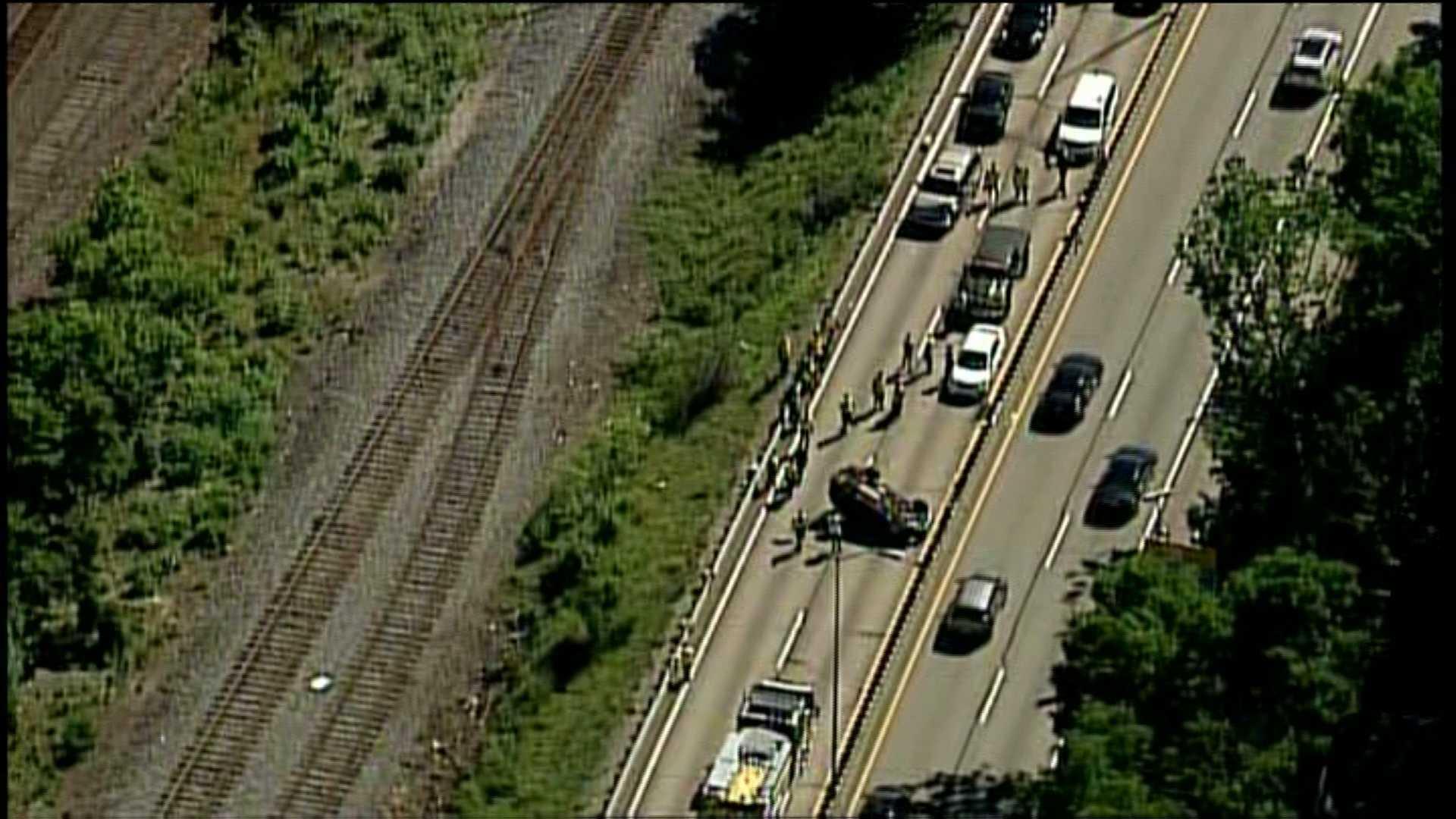 Route 28 crash wide