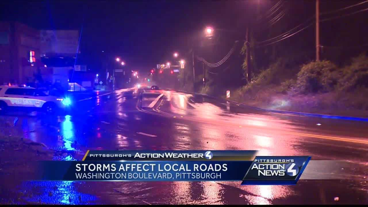 Storms cause problems for some drivers in Pittsburgh