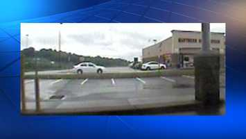 Surveillance photo of the getaway car.