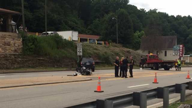 Motorcycle accident shuts down route 51 northbound in Jefferson Hills
