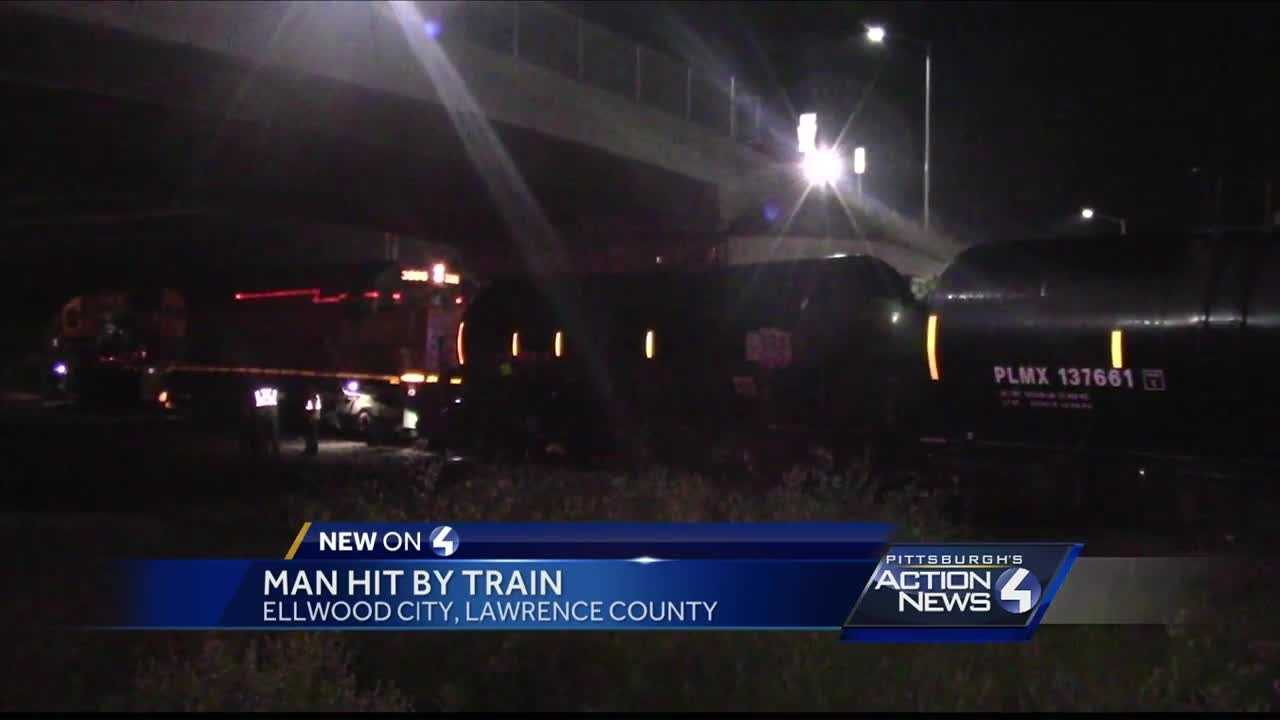 Man struck by train in Ellwood City