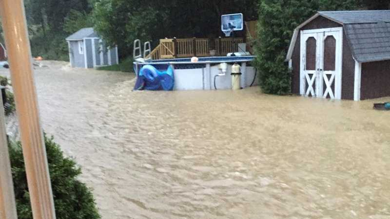 Whitehall home flooded during Thursday's storms
