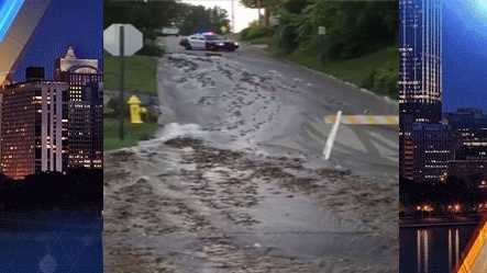Bridgeville water main breakW