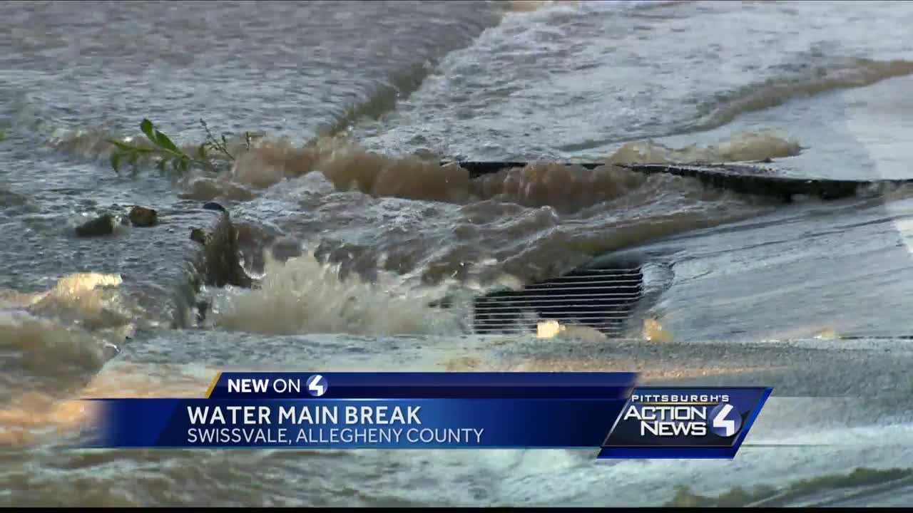 Large water main break leads to restrictions in Swissvale