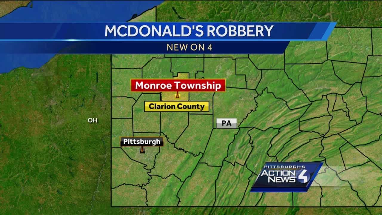 New details after an armed robbery at a McDonald's in Clarion County