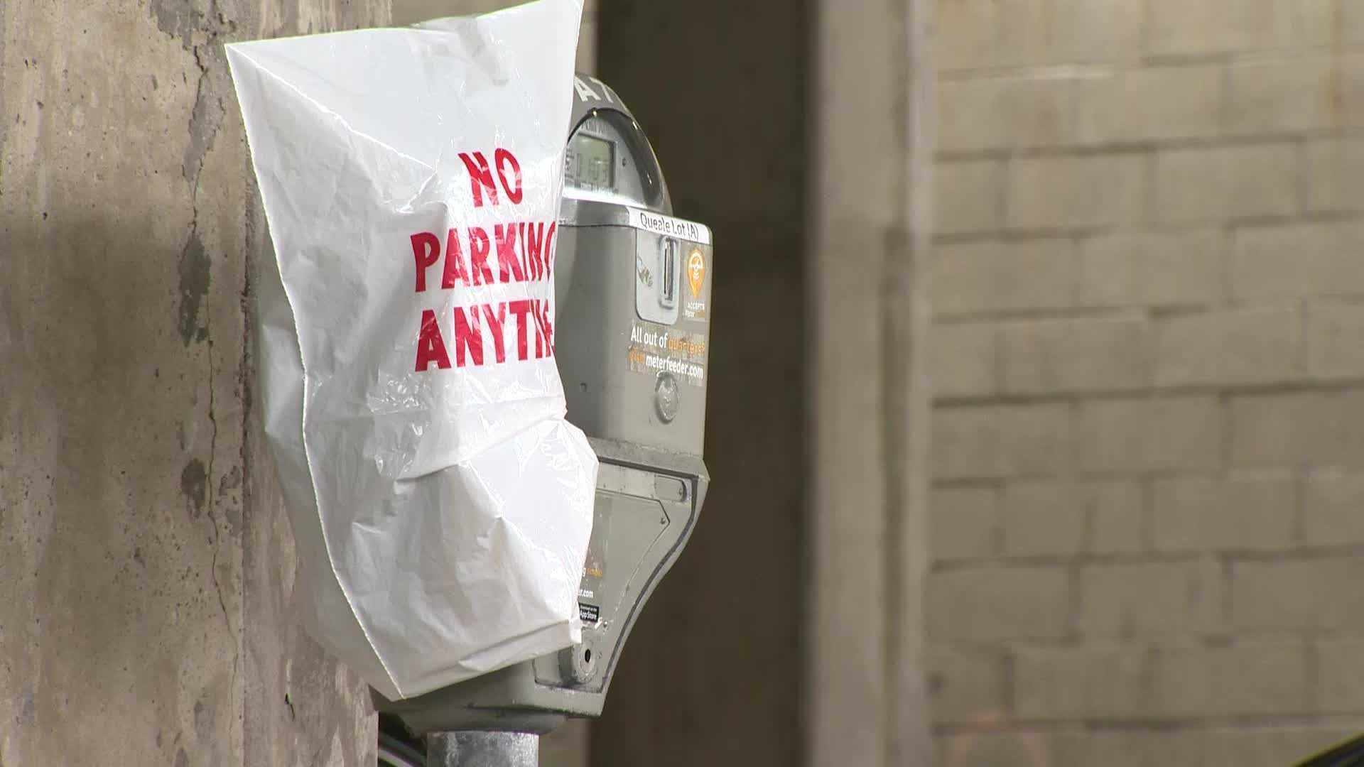 Parking meters stolen