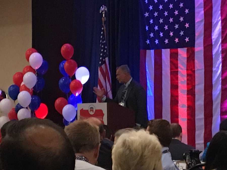 Mike Turzai addresses PA GOP delegates says Ohio, Michigan, Pennsylvania will be key to Donald Trump win #WTAE
