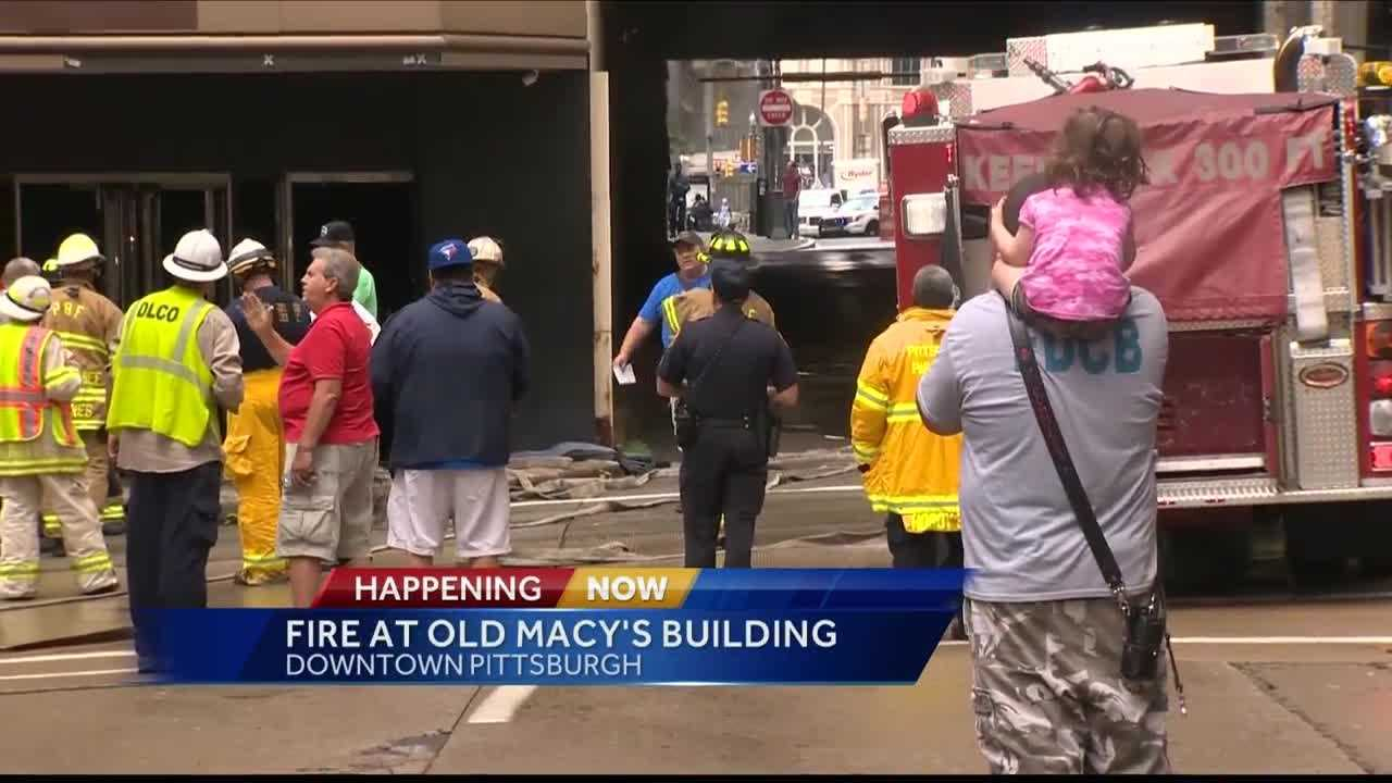 Firefighters were called to the former Macy's building on Smithfield Street downtown on Saturday.