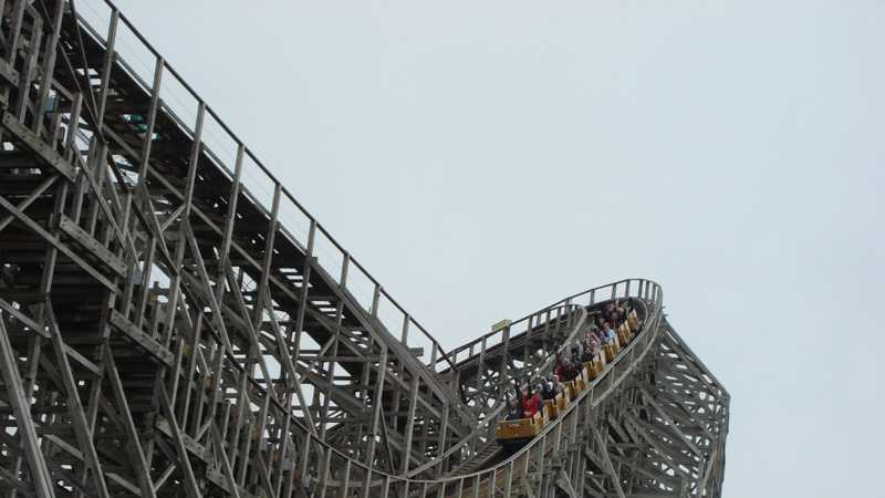 The Mean Streak roller coaster