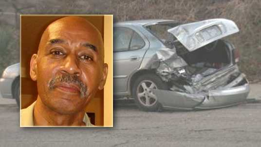 Police said Gregory Simpson was struck by a hit-and-run driver who also damaged two parked cars.