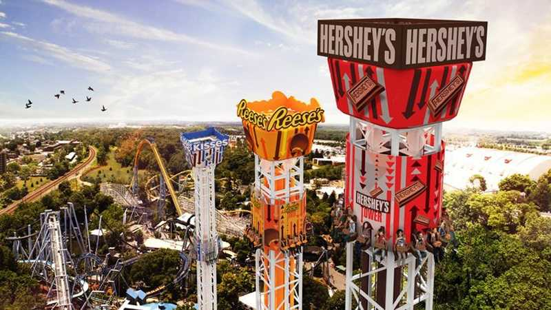 The Hershey Triple Tower is a new drop ride coming to Hersheypark.