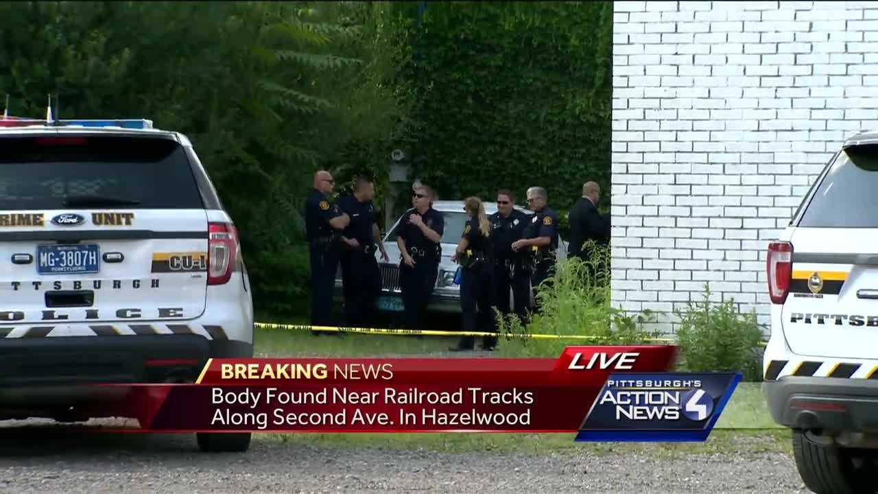 A woman's body was found along the railroad tracks in Pittsburgh's Hazelwood neighborhood Friday afternoon.