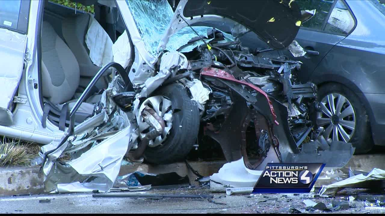 One person was killed and several others injured in a crash in Pittsburgh's Duquesne Heights neighborhood.