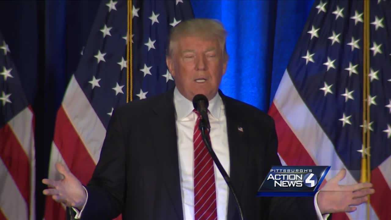 Donald Trump speaks in Youngstown.