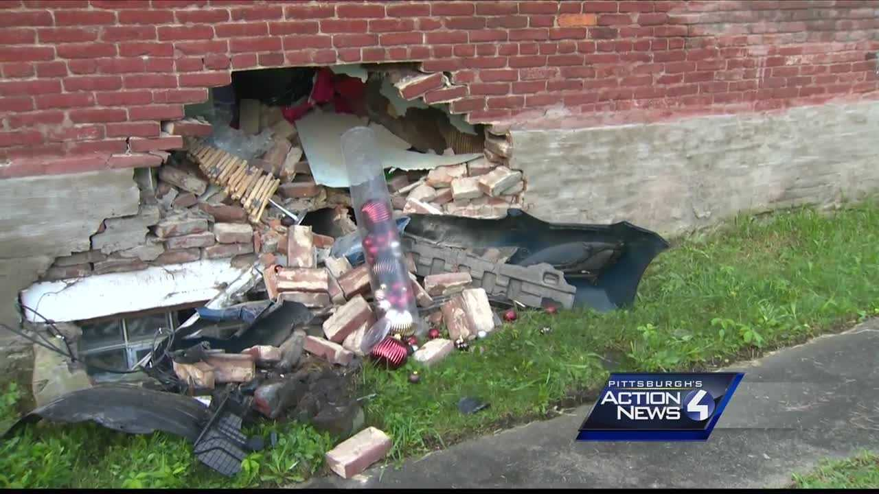 Police said a driver ran off after crashing into a home in Turtle Creek early Tuesday morning.
