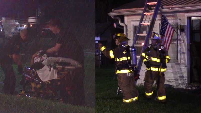 Hickory Township fire split screen
