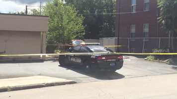 A man was wounded in the parking lot of a Wendy's restaurant in Wilkinsburg late Monday morning.
