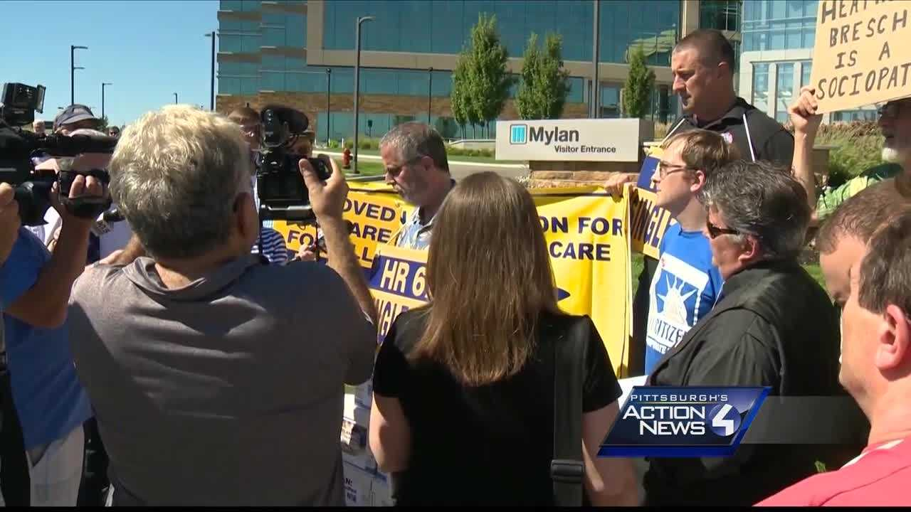 img-Enough Mylan EpiPen protesters demand change outside Southpointe headquarters